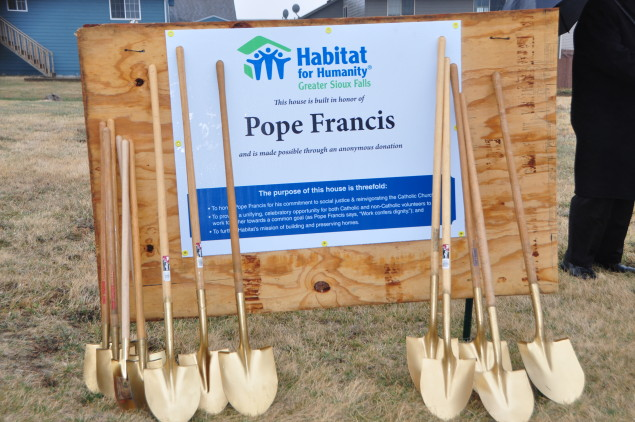 Groundbreaking Celebration Pope Francis House