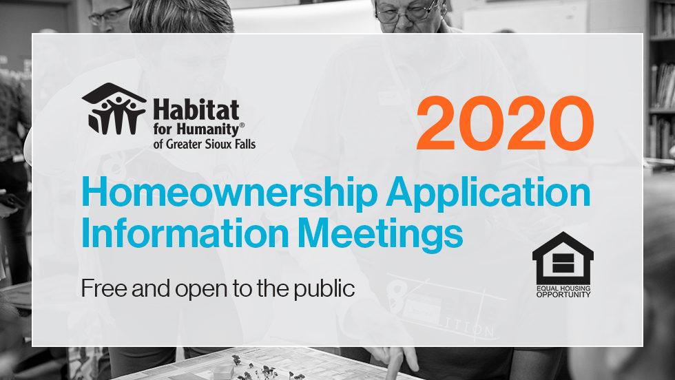 2020 Homeownership Application Information Meetings
