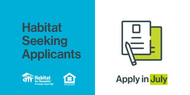 Habitat Seeking Applicants - Apply in July!