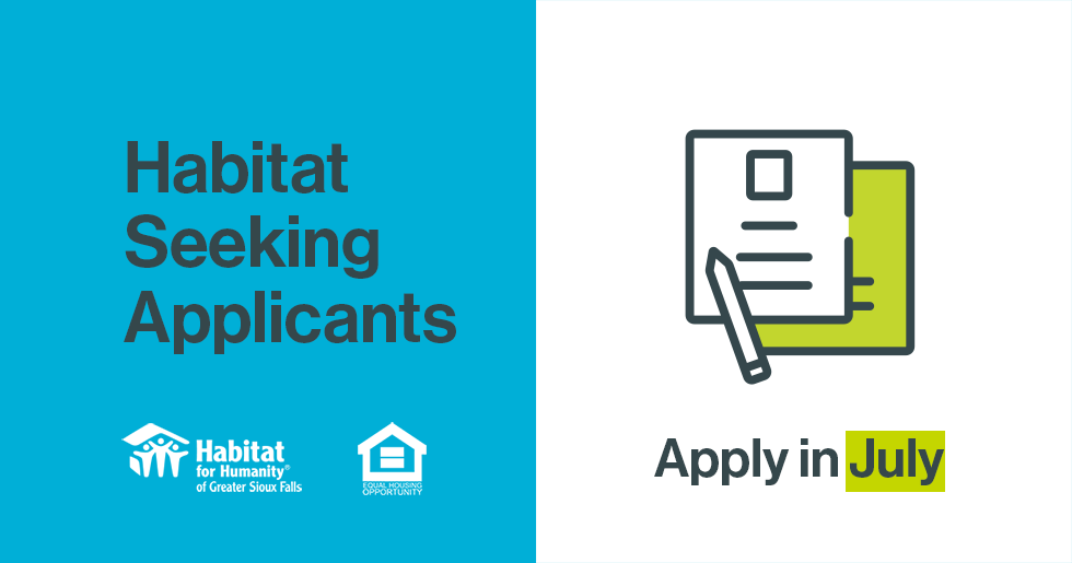 Habitat Seeking Applicants - Apply in July!